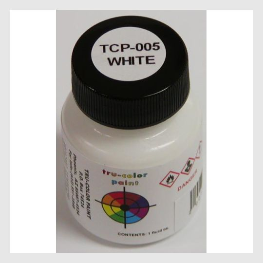 1589231190039 - Tru-Color Paint Tcp-005 White 1Oz - Rj's Trains