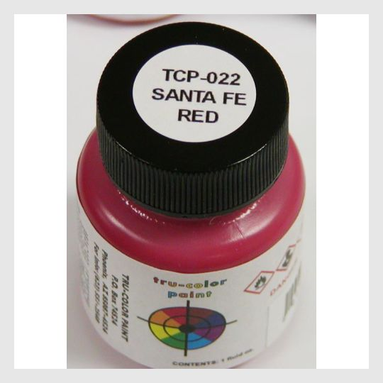 1589580824599 - Tru-Color Paint Tcp-022 Santa Fe Red 1Oz - Rj's Trains