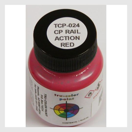 1591138418711 - Tru-Color Paint Tcp-024 Cp Rail Action Red 1Oz - Rj's Trains