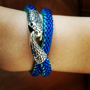"Beading bracelet (2 time twisted) or choker ""Snake"""