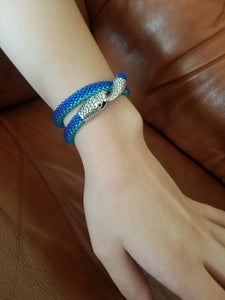 "Beading bracelet (2 time twisted) or choker ""Snake"" SALE - Lora's Treasures"