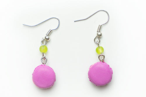 Beautiful handmade Macaron earrings from polymer clay, food jewelry series.  by Lora's Treasures