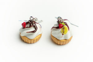 Beautiful handmade Cupcake earrings from polymer clay, food jewelry series.  by Lora's Treasures
