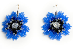 Beautiful handmade beaded flower earrings.  by Lora's Treasures