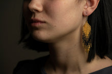 "Earrings ""Geometry Black&Gold"""