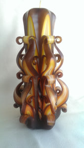 "Carved Candle ""Evening"" - Lora's Treasures"
