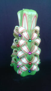 "Carved candle ""Christmas tree"" - Lora's Treasures"