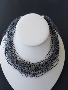 "Beaded necklace ""Air"""