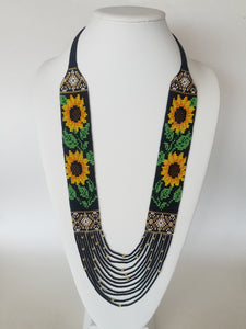 "Necklace in Ukrainian style ""Sunflowers"""
