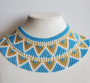 "Beaded necklace ""Collar"""