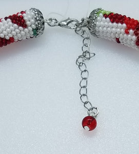"Necklace ""Christmas ornaments"" - Lora's Treasures"