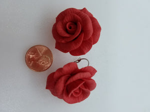 Big rose flower Earrings
