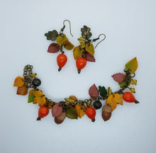 Bracelet with dog-roses and  acorns - Lora's Treasures