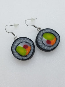 """Sushi"" Polymer clay earrings"