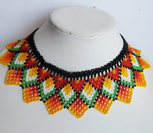 "Beaded necklace ""Collar"" - Lora's Treasures"