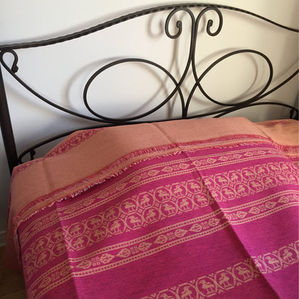 Handwoven Bed / Sofa Cover