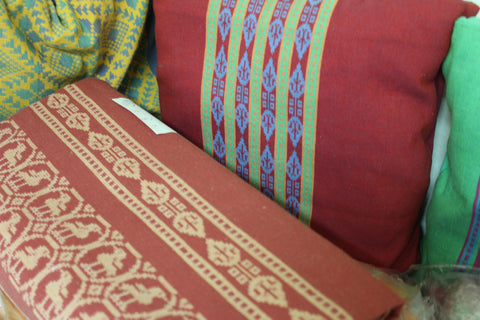 Handwoven bedcovers and cushion covers