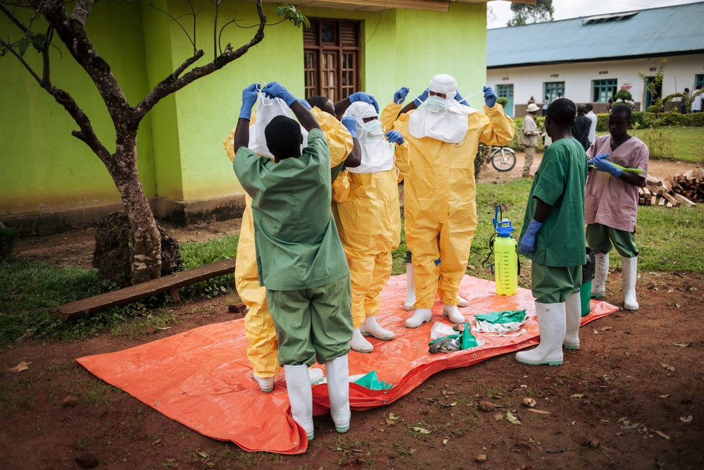Decontamination activities in Kalunguta health zone, North Kivu province, DRC Copyright Alexis Huguet