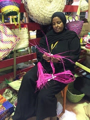 Nubian Artisan Weaving Palm Leaves