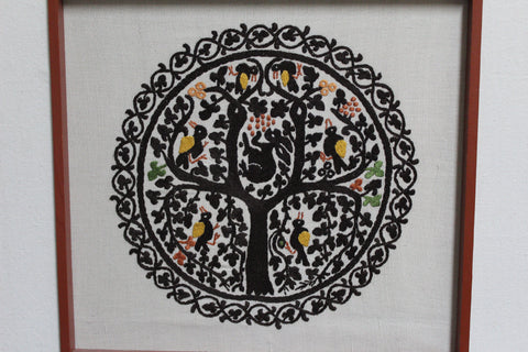 Hand embroidered tapestry - tree of life