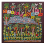 Hand Embroidered Tapestry - Cabbage Picking
