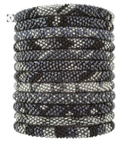 Roll-On Beaded Bracelets - Slate