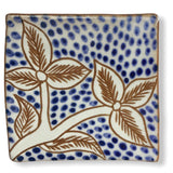 Pottery Coaster - Blooming Flowers