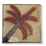 Pottery Coaster - Inclined Palm Tree