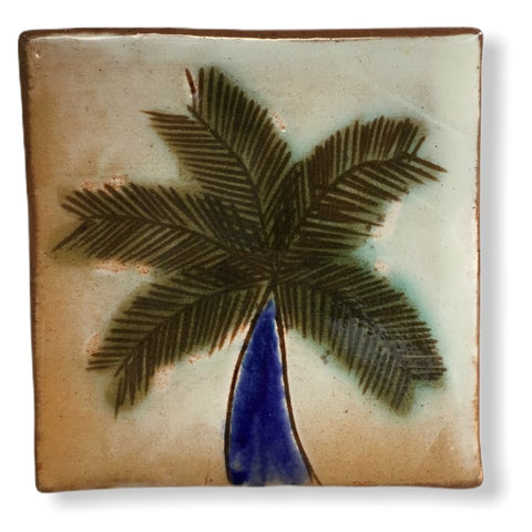 Pottery Coaster - Palm Tree