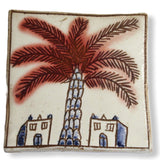 Pottery Coaster - Palm Tree & Adobe Houses