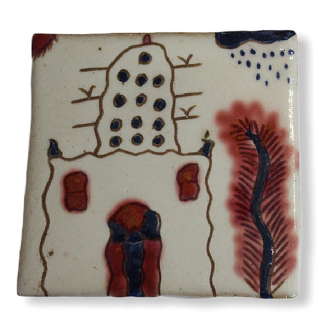 Pottery Coaster - Pigeon House