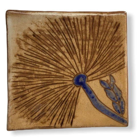 Pottery Coaster - Wild Flower