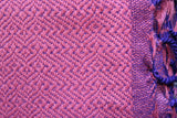 Double-faced Diamond Handwoven Shawl - Pink and Mauve