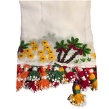 Hand Embroidered Fellahy Scarf