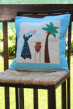 Handmade Egyptian Cotton Patchwork Cushion Cover