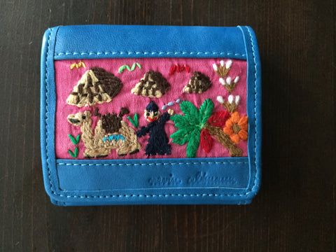 Handmade Leather Wallet with Hand Embroidery - Euro Wallet