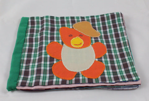 Handmade Patchwork Soft Cloth Alphabets Baby Book