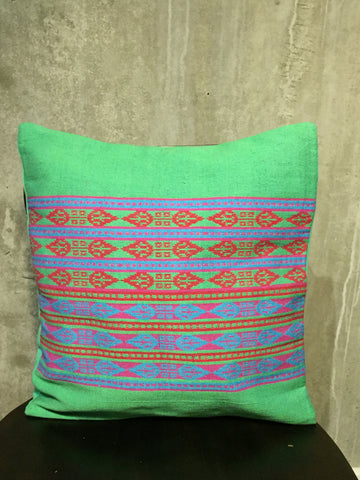 Handwoven Egyptian Cotton Cushion Cover - Paisley Motif