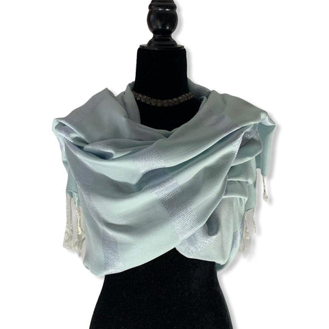 Helyat Handwoven Shawl - Light Blue