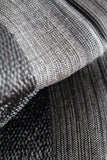 Helyat Handwoven Shawl - Variegated Black & Gray