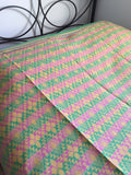 Handwoven Egyptian Cotton Bedcover: Pastel Diamonds - Double/Queen