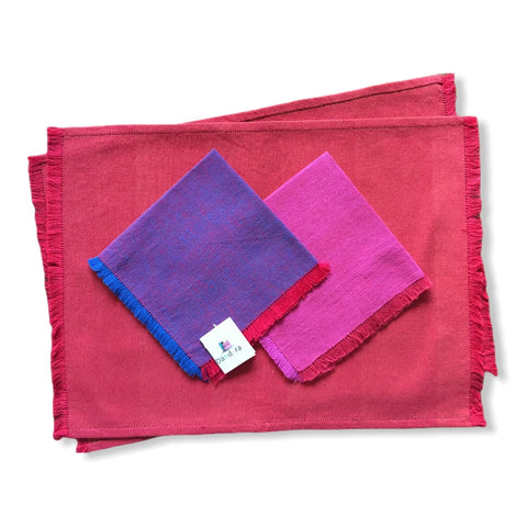 Handwoven Placemats & Napkins - Red
