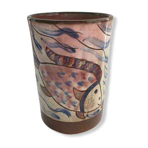 Pottery Toothbrush Holder - Fish