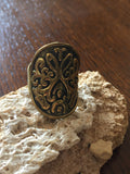 Handmade Brass Ring - Shield
