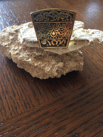Handmade Brass Ring - Arabic Calligraphy 10