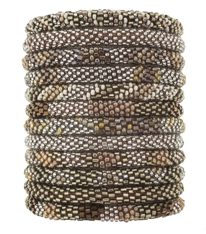 Roll-On Beaded Bracelets - Hazelnut