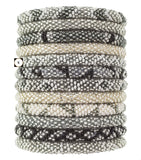 Roll-On Beaded Bracelets - Platinum