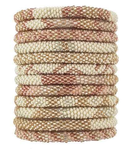 Roll-On Beaded Bracelets - Rosé All Day