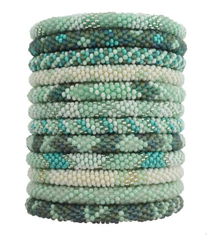 Roll-On Beaded Bracelets - Sea Glass