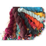 Shash Scarf with Colourful Hand Rolled Tassels